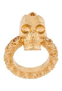 Alexander Mcqueen Anel 'Skull' - Metálico
