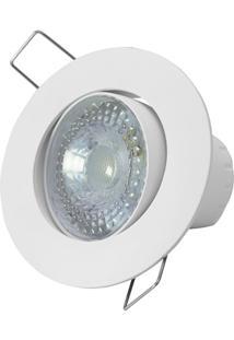 Spot Led De Embutir Redondo Sp 25 5W Autovolt 6500K Luz Branca