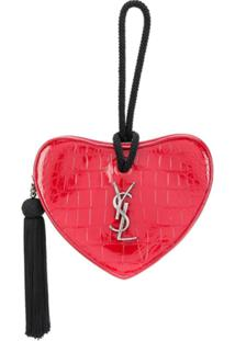 Saint Laurent Clutch Heart Com Tassel - Vermelho