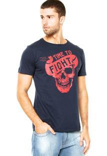 Camiseta Pretorian Skull Azul