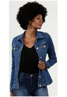 Jaqueta Feminina Botões Uber Jeans