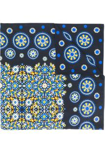 La Doublej Echarpe Estampada - Azul