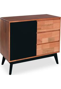 Buffet Rubi 1 Pt 3 Gv Natural E Preto
