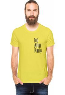 Camiseta Rgx No After Party Amarela