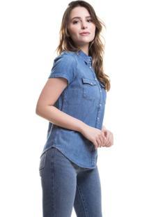 Camisa Larissa Western Levis - Feminino-Azul