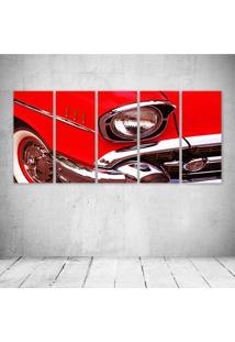 Quadro Decorativo - Red Car - Composto De 5 Quadros - Multicolorido - Dafiti