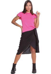 Camiseta Le Julie Básica Pink - Tricae