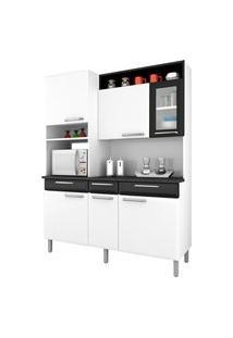 Cozinha Compacta Itatiaia I31Vg3-155 Regina 6 Portas Branca/Preta