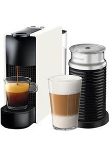 Cafeteira Nespresso Essenza Mini C30 Branco - 110V + Aeroccino 3