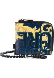 Versace Jeans Couture Carteira Com Estampa Barroca - Azul