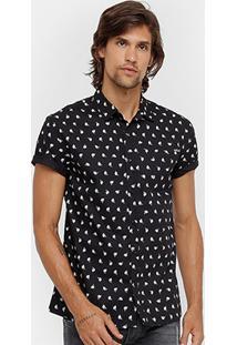 Camisa Colcci Manga Curta Estampada Bolso Masculina - Masculino