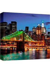 Quadro Impressão Digital Nova York Ponte Colorido 30X30Cm Uniart