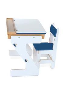 Mesa Versátil Azul Em Mdf Com 4 Peças - Cx. Papelão - Carlu