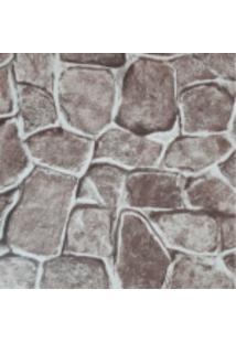 Kit 4 Rolos De Papel De Parede Fwb Lavável 3D Pedra Rustico