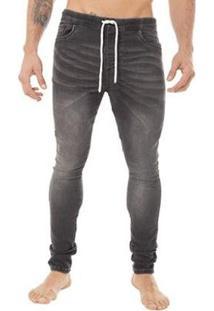 Calça Jeans La Moustache Jogger Azul Masculino - Masculino-Preto