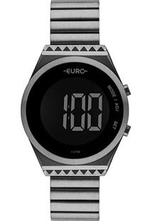 Relógio Euro Digital Antique Feminino - Feminino-Cinza