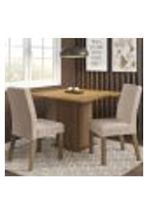 Conjunto Sala De Jantar Madesa Tai Mesa Tampo De Madeira Com 2 Cadeiras - Rustic/Imperial