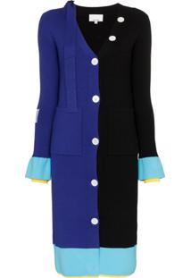 I-Am-Chen Colour-Block Knitted Cardigan - Preto