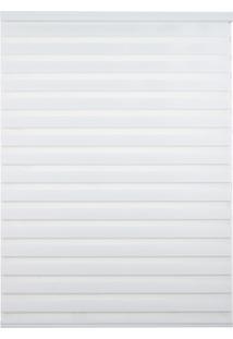 Persiana Rolo Em Poliéster Zebra 120X160Cm Branco