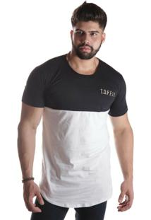 Camiseta Top Fit Vision Branca E Preta