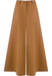 Le Soleil D'Ete Calça Pantalona Velma - Marrom