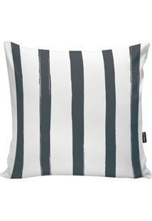 Capa De Almofada Stripes- Branca & Cinza- 45X45Cm