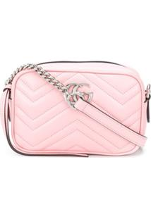 Gucci Bolsa Transversal Gg Marmont - Rosa