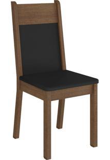 Kit 4 Cadeiras 4280 Madesa Rustic/Preto Marrom - Tricae