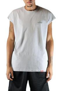 Camiseta Outlawz Sleeve Japanese - Masculino-Cinza Claro