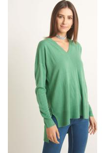 Blusa Le Lis Blanc Bianca Xiii Tricot Verde Feminina (Green, M)