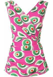 Dolce & Gabbana Regata Em Seda Mista Estampada - Rosa