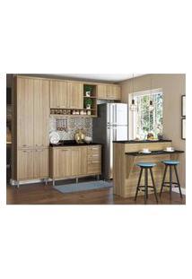Cozinha Completa Multimóveis Com 6 Peças Sicília 5846 Argila/Argila