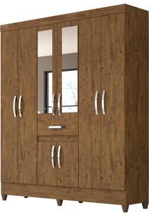 Guarda-Roupa Casal Com Espelho Portugal 8 Pt 1 Gv Castanho Wood