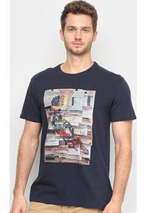 Camiseta Reserva Pica Post It Masculina - Masculino-Azul Escuro