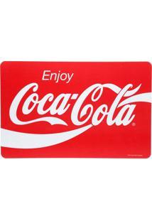 Jogo Americano Logo Da Coca Cola Enjoy Unitário - Jogo Americano Logo Da Coca-Cola Unitário