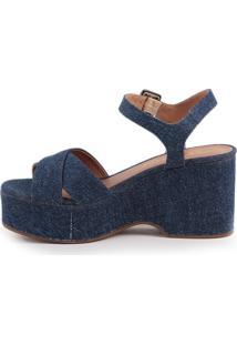 Sandália Camminare Kate 819-12738 Jeans Azul