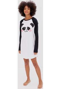Camisola Manga Longa Estampa Panda