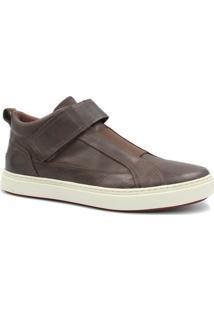 Sapatênis Zariff Shoes Em Couro - Masculino-Marrom Escuro