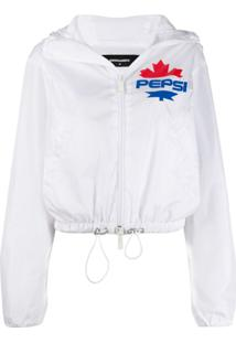 Dsquared2 Logo Print Hooded Jacket - Branco