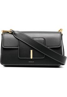 Wandler Contrast-Stitch Shoulder Bag - Preto