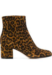 Gianvito Rossi Ankle Boot Com Animal Print - Txsleo