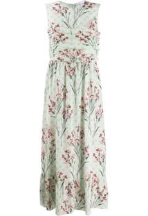 Redvalentino Vestido Longo Sem Mangas Com Estampa Floral - Verde