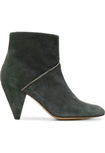 Tila March Ankle Boot Com Zíper - Cinza