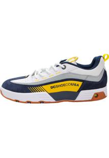Tênis Dc Shoes Legacy 98 - Branco E Amarelo