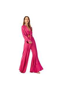 Calca Iodice Pantalona Cos Intermediario Basica Rosa