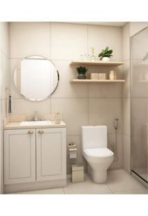 Conjunto Para Banheiro Com Balcão 2 Portas E 2 Prateleiras Siena Móveis