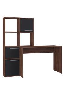 Mesa Escrivaninha Multiuso Modern Office Estilare Est113 3 Portas