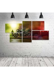 Quadro Decorativo - Kawasaki-Z - Composto De 5 Quadros - Multicolorido - Dafiti