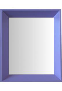 Espelho Moldura Madeira Lisa Fundo 16211 Lilás Art Shop