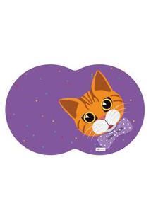 Tapete Pet Gato Roxo 55X35Cm